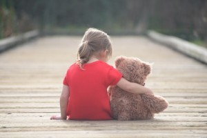 Childhood secrets are best shared with reliable friend. And if you are small sad girl teddybear is willing to be your perfect friend.